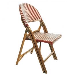 Chaise pliante rotin SQUARE